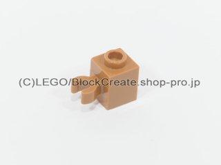 #60475 ブロック 1x1 クリップ(垂直用) 凹スタッド【黄褐色】 /Brick 1x1 with Vertical Clip :[Md Dk Flesh]