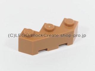 #2462 ブロック 3x3 ファセット【黄褐色】 /Brick 3x3 Facet :[Md Dk Flesh]