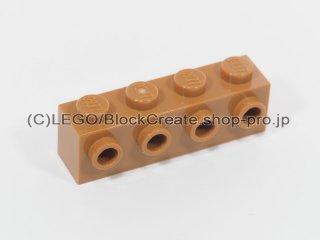 #30414 ブロック 1x4 片面スタッド【黄褐色】 /Brick 1x4 with 4 Studs on 1 Side :[Md Dk Flesh]