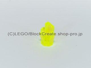 #15584 クリスタル【透明蛍光黄緑】 /Rock 1x1 with 5 Points :[Tr,Neon Green]
