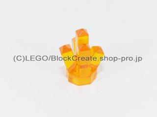 #15584 クリスタル【透明オレンジ】 /Rock 1x1 with 5 Points :[Tr,Orange]