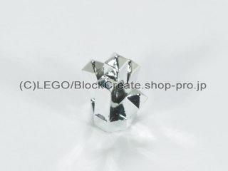 #15584 クリスタル【クローム銀】 /Rock 1x1 with 5 Points :[Chrome Silver]