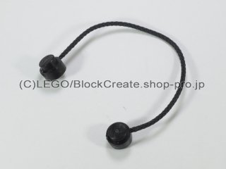 #14226 ストリング ロープ 11L【黒】 /String with End Studs 1x11 :[Black]