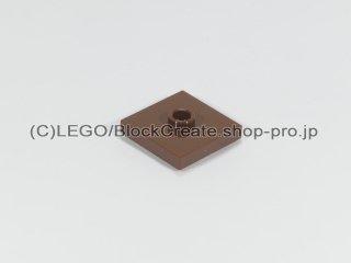 #87580 タイル 2x2 センタースタッド【新茶】 /Plate 2x2 with Groove and 1 Center Stud :[Reddish Brown]