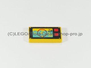 #3069 タイル 1x2 フラット 水中ナビゲーション【黄色】 /Tile 1x2 with Underwater Navigation :[Yellow]