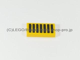 #3069 タイル 1x2 フラット 黒グリル【黄色】 /Tile 1x2 with Black Grille :[Yellow]