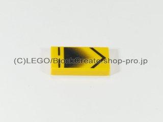 #3069 タイル 1x2 フラット プリント【黄色】 /Tile 1x2 with Decoration :[Yellow]