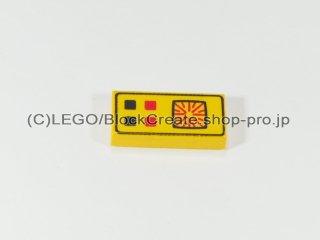 #3069 タイル 1x2 フラット コンピューター【黄色】 /Tile 1x2 with Computer :[Yellow]