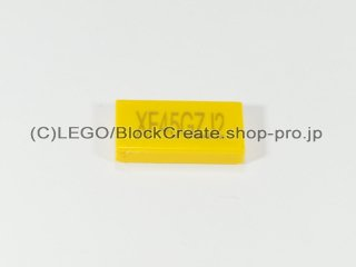 #3069 タイル 1x2 フラット (XF45GZI2)【黄色】 /Tile 1x2 with Exo Force Code :[Yellow]