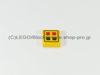 #3070 タイル 1x1 赤黒ボタン【黄色】 /Tile 1x1 with Red & Black Buttons :[Yellow]