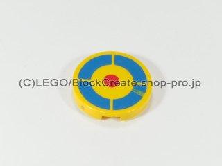 #4150 タイル 2x2 フラットラウンド 的【黄色】 /Round Tile 2x2 with Archery Target :[Yellow]