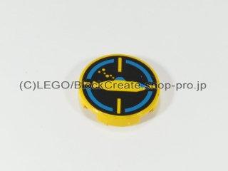 #4150 タイル 2x2 フラットラウンド 潜水艦【黄色】 /Round Tile 2x2 with Decoration :[Yellow]