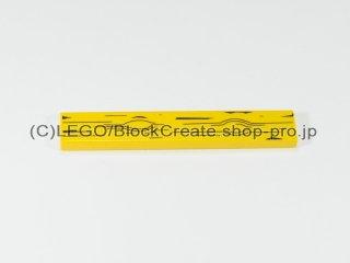 #6636 タイル 1x6 フラット 木目【黄色】 /Tile 1x6 with Wood Grain :[Yellow]