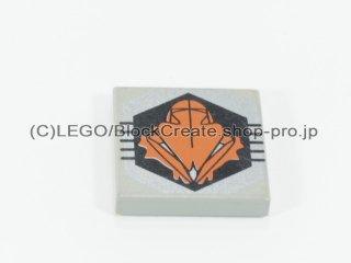 #3068 タイル 2x2 フラット プリント  【旧灰】 /Tile 2x2 with Decoration  :[Gray]