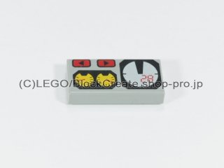 #3069 タイル 1x2 フラット コックピット 【旧灰】 /Tile 1x2 with Cockpit Dials :[Gray]