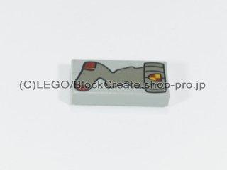 #3069 タイル 1x2 フラット 靴下 【旧灰】 /Tile 1x2 with Decoration :[Gray]