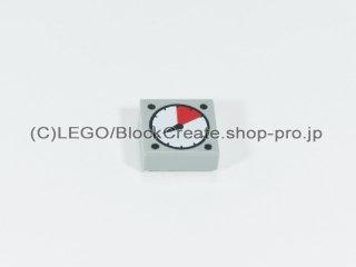 #3070 タイル 1x1 フラット ダイヤル 【旧灰】 /Tile 1x1 with Dial :[Gray]