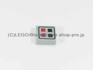 #3070 タイル 1x1 フラット 赤黒ボタン 【旧灰】 /Tile 1x1 with Red & Black Buttons :[Gray]