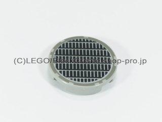 #4150 タイル 2x2 フラットラウンド 通気孔 【旧灰】 /Round Tile 2x2 with Vent Design :[Gray]