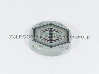 #4150 タイル 2x2 フラットラウンド プリント 【旧灰】 /Round Tile 2x2 with Decoration :[Gray]