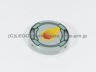 #4150 タイル 2x2 フラットラウンド 隕石 【旧灰】 /Round Tile 2x2 with Decoration :[Gray]