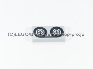 #3069 タイル 1x2 フラット テープ 【新灰】 /Tile 1x2 with Tape Reels :[Light Bluish Gray]