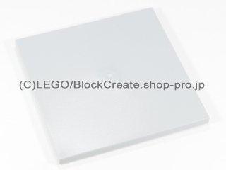 #10202 タイル 6x6 フラット ボトムチューブ 【新灰】 /Tile 6x6 with Bottom Tubes :[Light Bluish Gray]