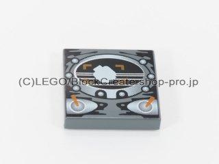 #3068 タイル 2x2 フラット プリント【新濃灰】 /Tile 2x2 with Decoration :[Dark Bluish Gray]