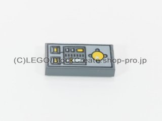 #3069 タイル 1x2 フラット ノブコントロール【新濃灰】 /Tile 1x2 with Yellow Buttons and Knob Controls :[Dark Bluish Gray]