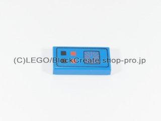 #3069 タイル 1x2 フラット コンピューター 【青】 /Tile 1x2 with Computer :[Blue]
