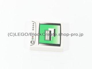 #3068 タイル 2x2 フラット PCモニター 【白】 /Tile 2x2 with PC Monitor Pattern :[White]