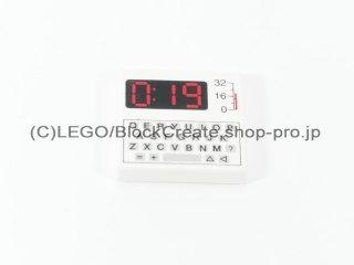#3068 タイル 2x2 フラット 楽器とキーボード 【白】 /Tile 2x2 with Instruments and Keyboard :[White]