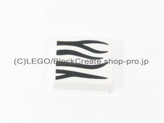 #3068 タイル 2x2 フラット プリント 【白】 /Tile 2x2 with Decoration :[White]