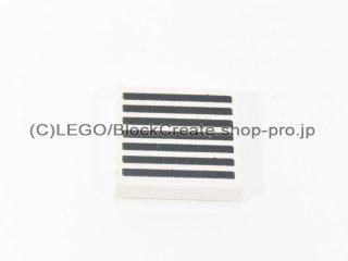 #3068 タイル 2x2 フラット 黒グリル 【白】 /Tile 2x2 with Black Grille :[White]