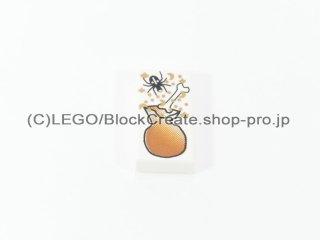 #3069 タイル 1x2 フラット プリント 【白】 /Tile 1x2 with Black Spider, :[White]