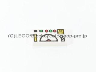 #3069 タイル 1x2 フラット テレメトリー 【白】 /Tile 1x2 with Telemetry Computer :[White]