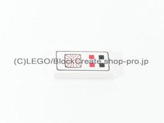 #3069 タイル 1x2 フラット コンピューター 【白】 /Tile 1x2 with Computer :[White]