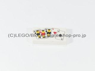 #3069 タイル 1x2 フラット トランプ 【白】 /Tile 1x2 with Decoration :[White]