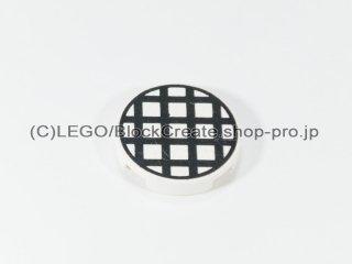 #4150 タイル 2x2 フラットラウンド グリル 【白】 /Round Tile 2x2 with Grille :[White]
