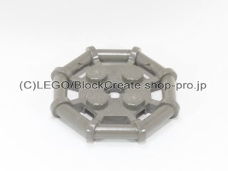 #30033 プレート 2x2 八角フレーム 【旧濃灰】 /Plate 2x2 with Rod Frame Octagonal :[Dark Gray]