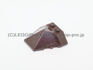 #47757 ウェッジ  4x4 4面スロープ  【濃茶】 /Wedge 4x4 Quadruple Convex Slope Center  :[Dark Brown]