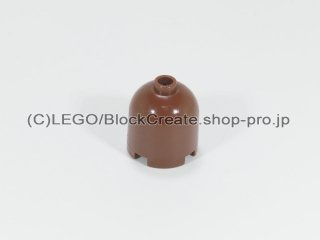 #30151 ラウンド 2x2x1 2/3 ドームトップ【新茶】 /Cylinder 2x2x1&2/3 with Dome Top :[Reddish Brown]