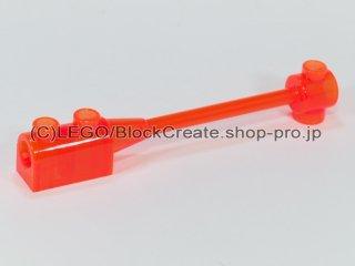 #30359 バー 1x8 ブロック 1x2 カーブトップ【透明蛍光オレンジ】 /Bar 1x8 with Curved Brick 1x2 (No Axle) :[Tr,Neon Orange]