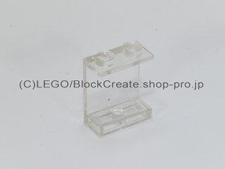 #4864 パネル 1x2x2  【透明】 /Panel 1x2x2 without Side Supports, Solid Studs  :[Tr,Clear]
