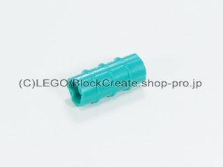 #6538 テクニック 軸コネクター【ダークターコイズ】 /Axle Connector (Ridged with 'x' Hole) :[Dark Turquoise]