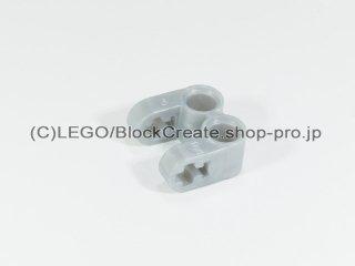 #41678 テクニック 軸/ピンコネクター 2x2 垂直ダブル【パールライトグレー】 /Technic Cross Block 2x2 Split :[Pearl Lt,Gray]