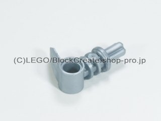 #42074 バイニクル 軸 ピンコネクター 2x3 歯付【ツヤ消銀】 /Technic Bionicle Hook Small with Axle and Hole :[Flat Silver]