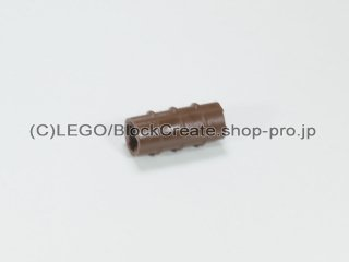 #6538 テクニック 軸コネクター【旧茶】 /Axle Connector (Ridged with 'x' Hole) :[Brown]