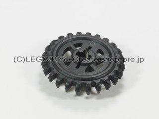 #3650 テクニック クラウンギア 24歯【黒】 /Crown Gear with 24 Teeth and Reinforcements :[Black]