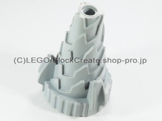#64713 コーン ドリル【新灰】 /Conical Drill with Spikes :[Light Bluish Gray]